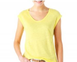 T-shirt in lino Promod Prezzo: 14,95€