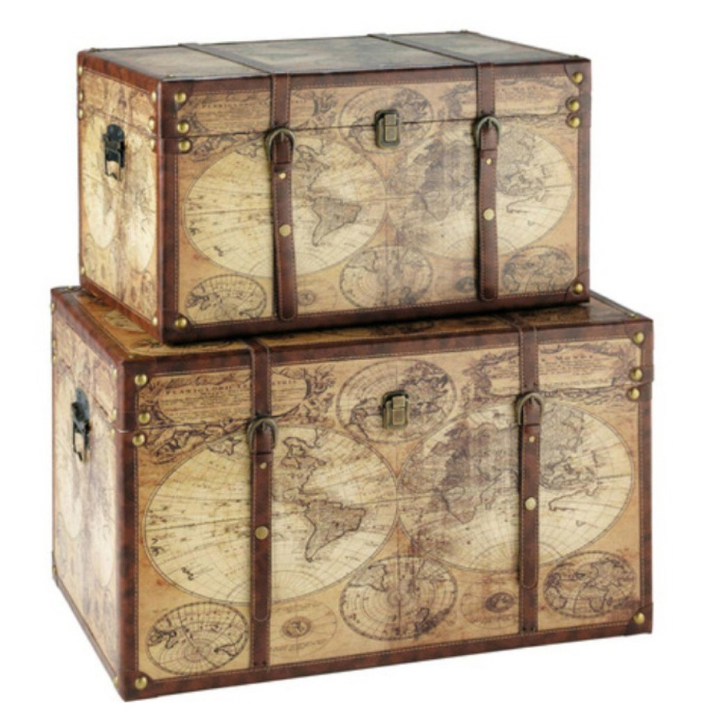 Bauli in legno Mappamondo Maisons Du Monde